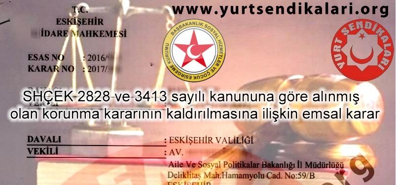 2828 SHÇEK Emsal Karar