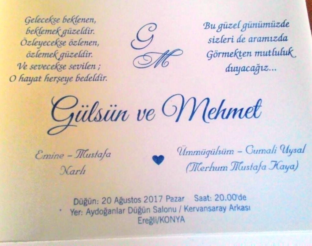 Gülsün ve Mehmet'in Mutlu Günü