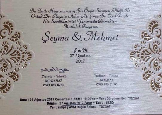 Şeyma ve Mehmet'in Mutlu Günü