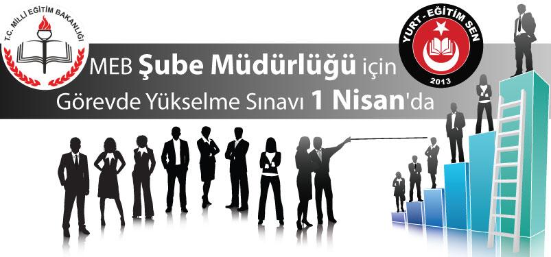 MEB Şube Müdürlüğü İçin Görevde Yükselme Sınavı 1 Nisan'da