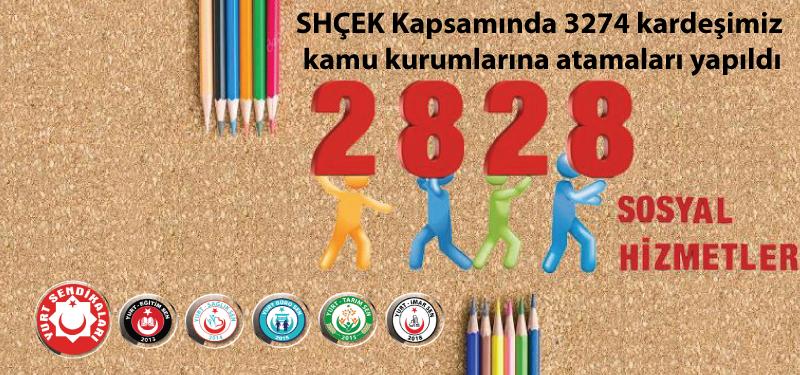SHÇEK Kapsamında 3274 kardeşimiz kamu kurumlarına atamaları yapıldı