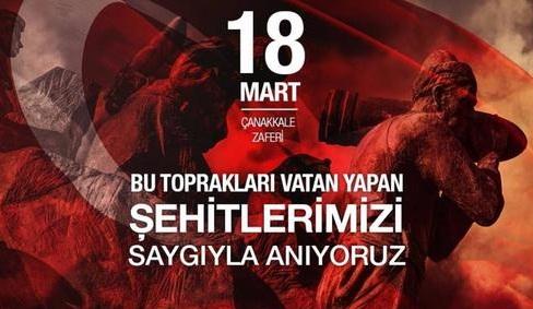 18 Mart Çanakkale Zaferi Mesajımız